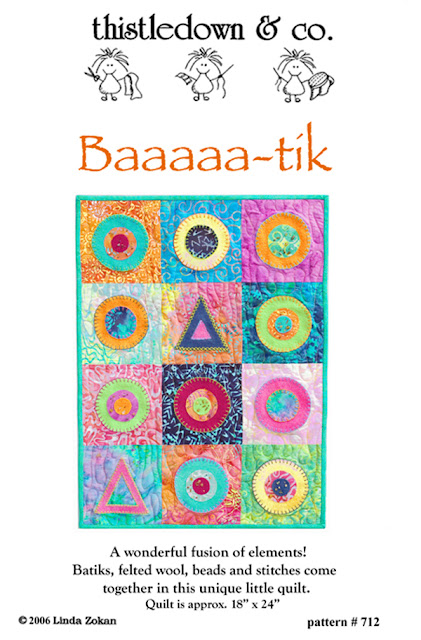 Baaa-tik pattern by Thistledown and Company