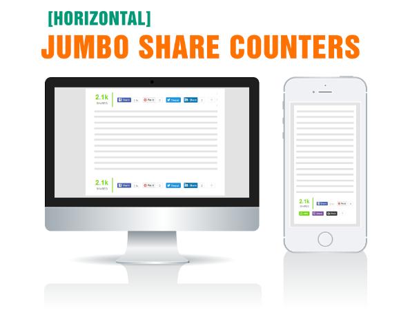 Horizontal Share Buttons