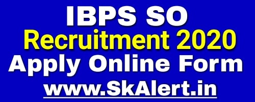 IBPS SO Specialist Officer - X Online Form 2020  IBPS SO Recruitment 2020