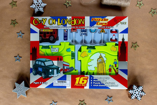 Puzzle cars set for city of london in a box