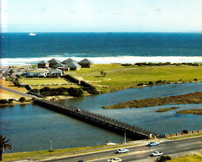 The Wooden Bridge (in daily use) - WoodBridge Island  (Circa 1977)