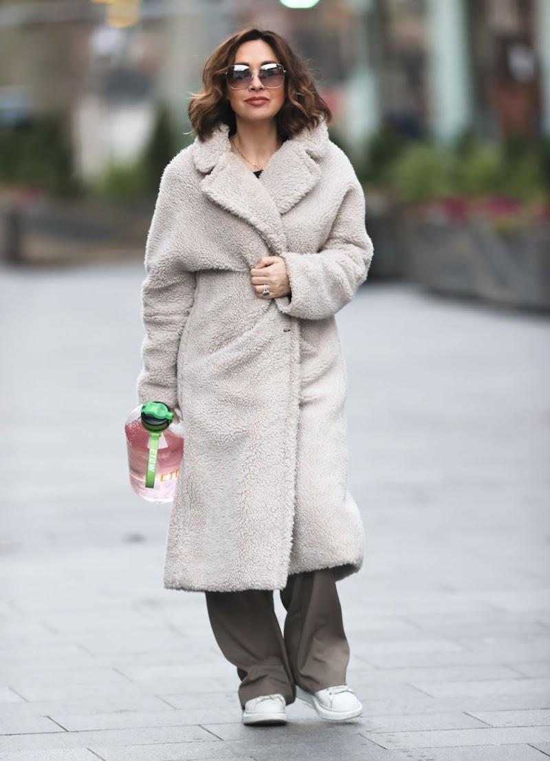 Myleene Klass Clciked Outside  in London 9 Jan-2020