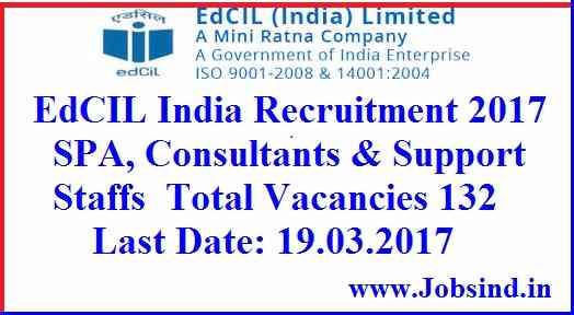 EdCIL India Recruitment 2017