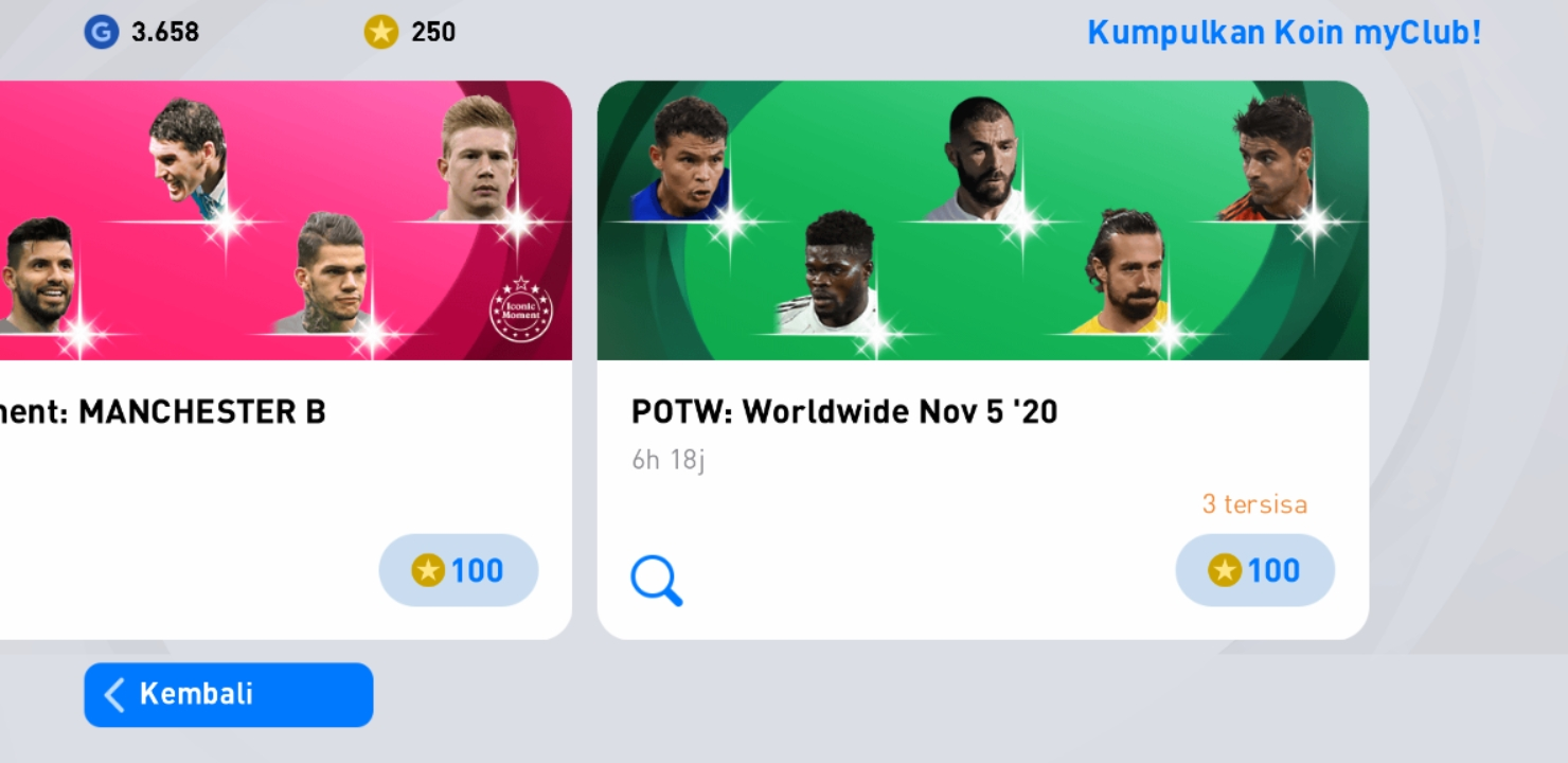 eFootball PES 2021 POTW Worldwide Nov 5 '20