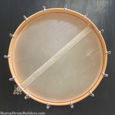 Bottom View of Stone Field Drum and Gut Snares