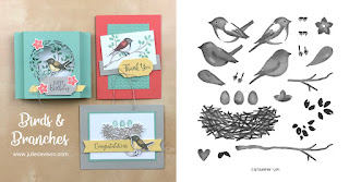 Stampin' Up! Birds & Branches Card Kit  ~ 2020-2021 Annual Catalog ~ Stamp of the Month Club Card Kit ~ www.juliedavison.com