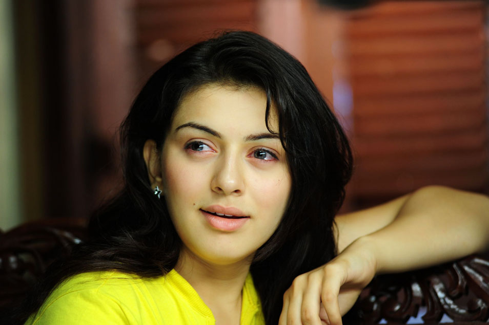 Hansika Latest Crying Face Close Up Photos In Yellow Dress