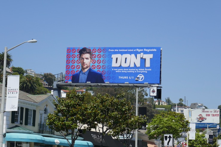 Dont TV show billboard