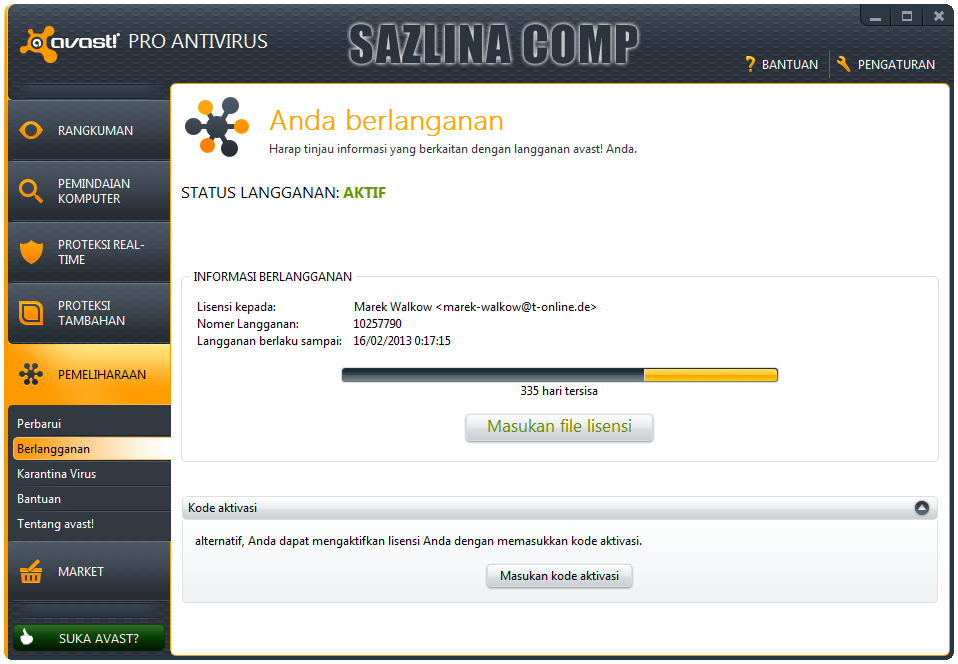 avast anti track key