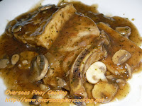 Pork Chop and Tofu with Mushroom and Oyster Sauce