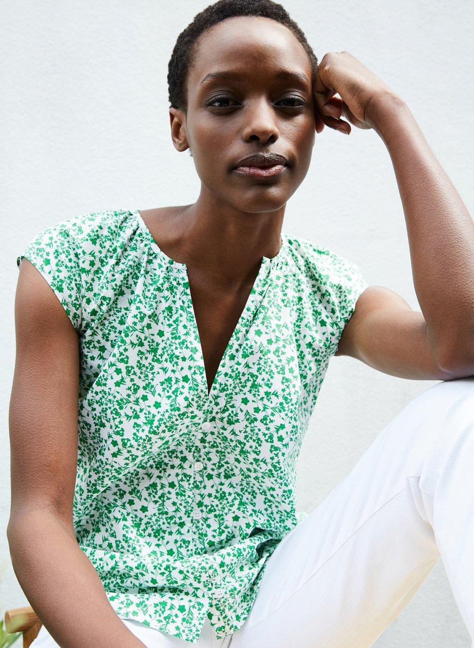 my midlife fashion, Baukjen Harriet organic blouse