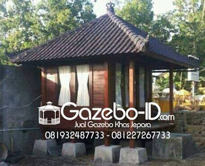 Gazebo Kayu Model Rumah