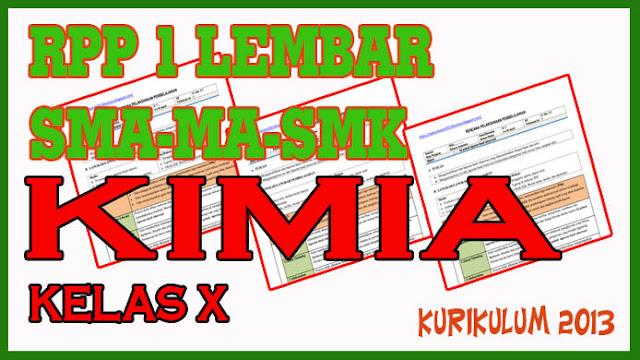 RPP 1 Lembar Materi Hukum-Hukum Dasar Kimia dan Stoikiometri. RPP Kimia Kelas X KD 3.10 - 4.10