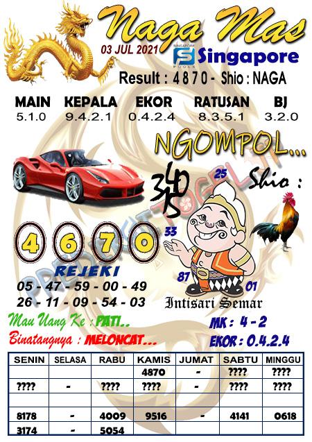 Syair Naga Mas SGP Sabtu 03 Juli 2021
