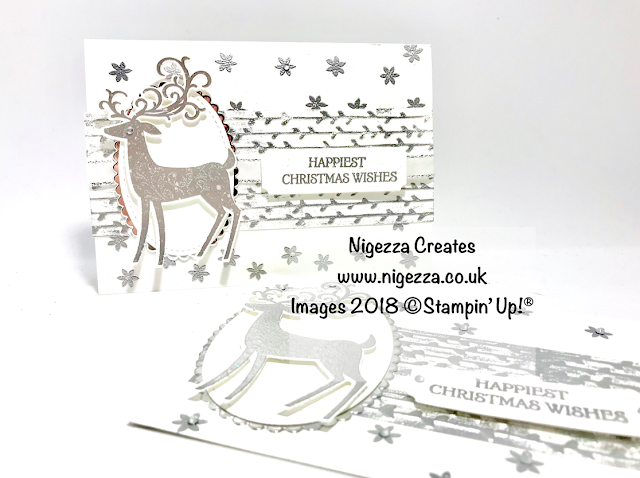 Dashing Deer Embossed Christmas Card Nigezza Creates
