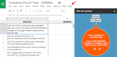 How I crowd-translated my product tour with Google sheets as a custom collaboration tool