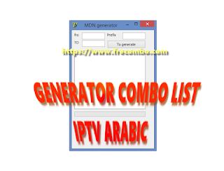 GENERATOR COMBO LIST IPTV ARABIC