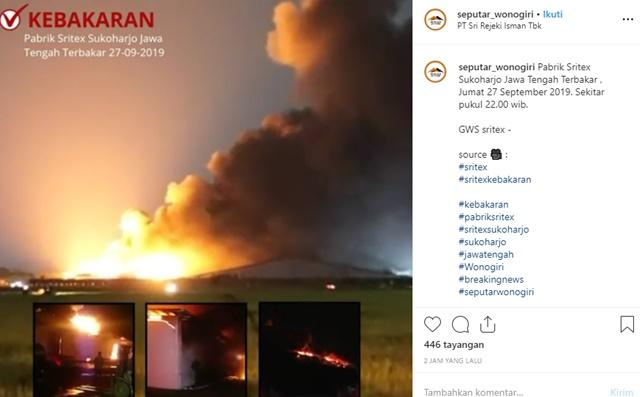 Sritex kebakaran - IGseputar_wonogiri