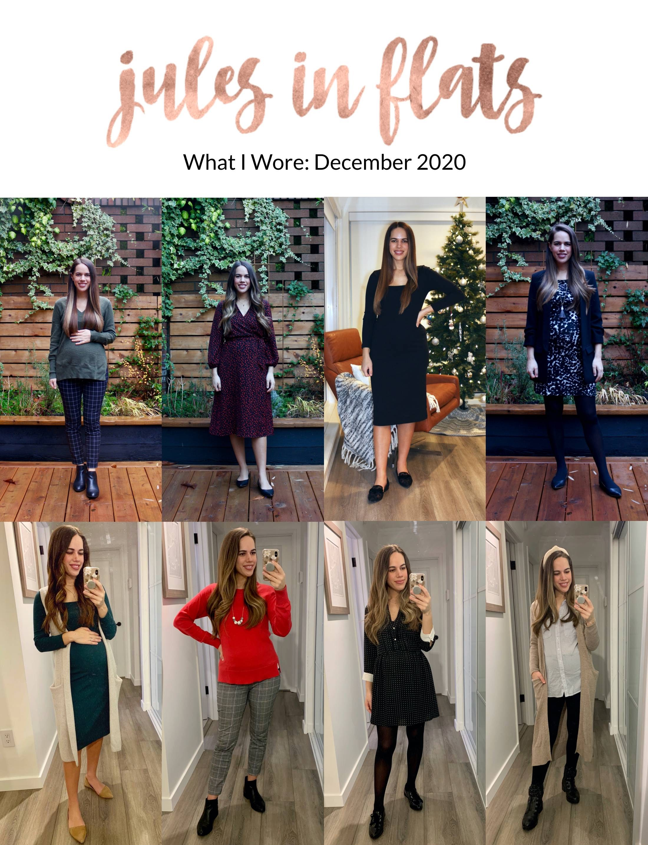 Jules in Flats - Monthly Outfit Roundup December 2020