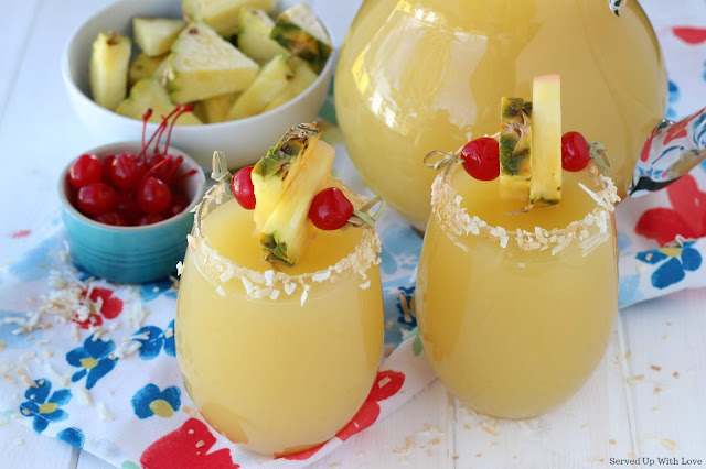 Party punch with pineapple and rum from Served Up With Love