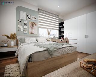 Mẫu căn hộ chung cư 55m2 một phòng ngủ