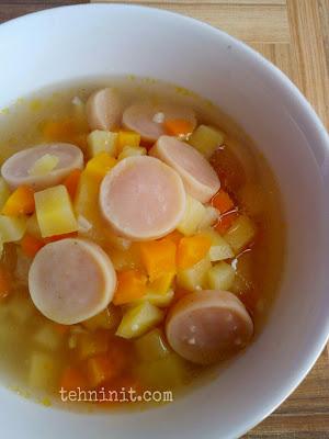 Sup Krim Sayur Sosis Sisa-Sisa