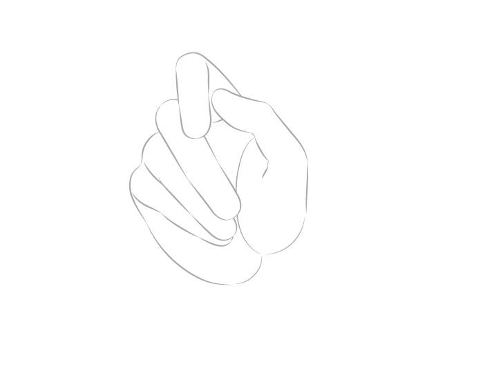 Tangan memegang sumpit gambar jari palm view