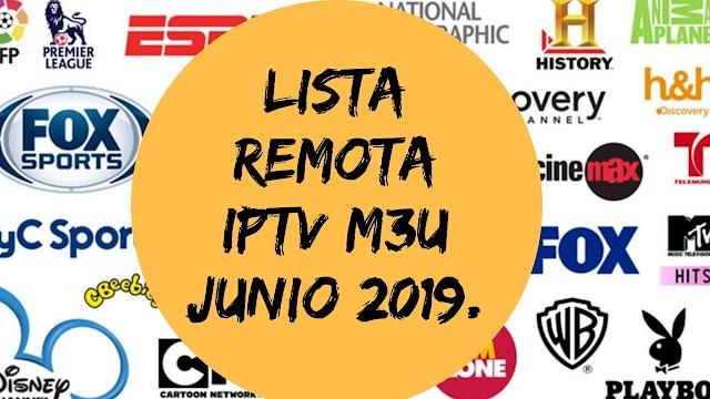 Lista Iptv remota canales en español  Junio 2019