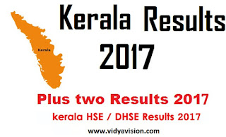 Kerala HSE Plus Two Results 2017
