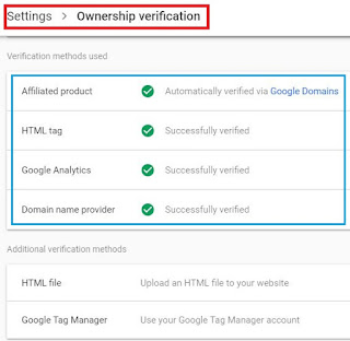 site ownership verify, HTML file, HTML tag