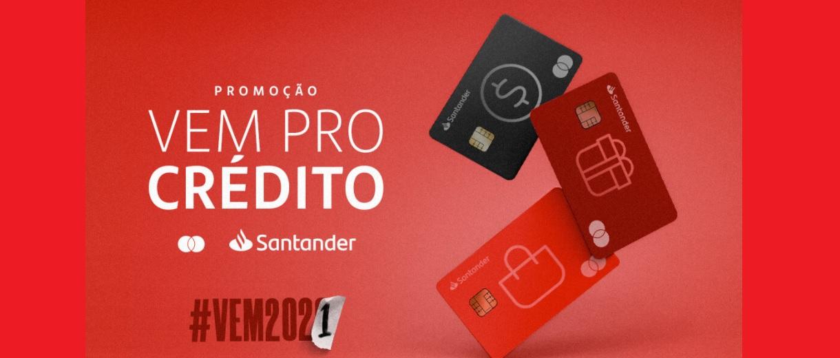 Promoção Vem Pro Crédito Santander Mastercard 120 Mil Reais e Vouchers