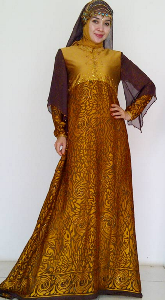 Gamis Batik Modern Bernuasa Syar'i