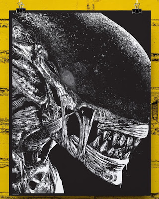 San Diego Comic-Con 2017 Exclusive Alien: Covenant Screen Print by Anthony Petrie