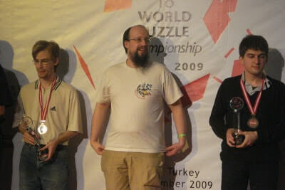18th World Puzzle Championship 2009 Antalya Turkey winners