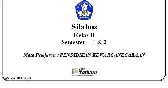 Download Silabus Kurikulum 2013 Pkn Kelas 2 Sd Mi Terbaru File Terbaru