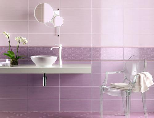 Consigli per la casa e l' arredamento: Idee per arredare o imbiancare un bagno rosa, lilla ...