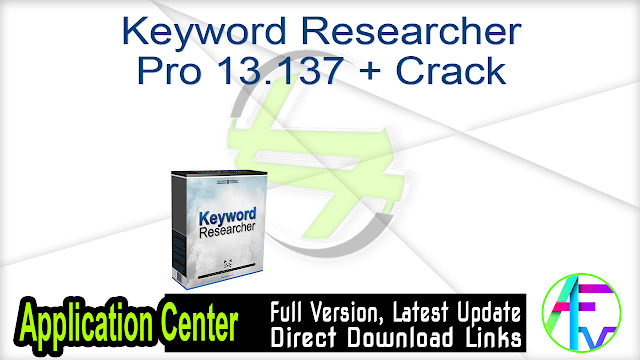 Keyword Researcher Pro 13.137 + Crack