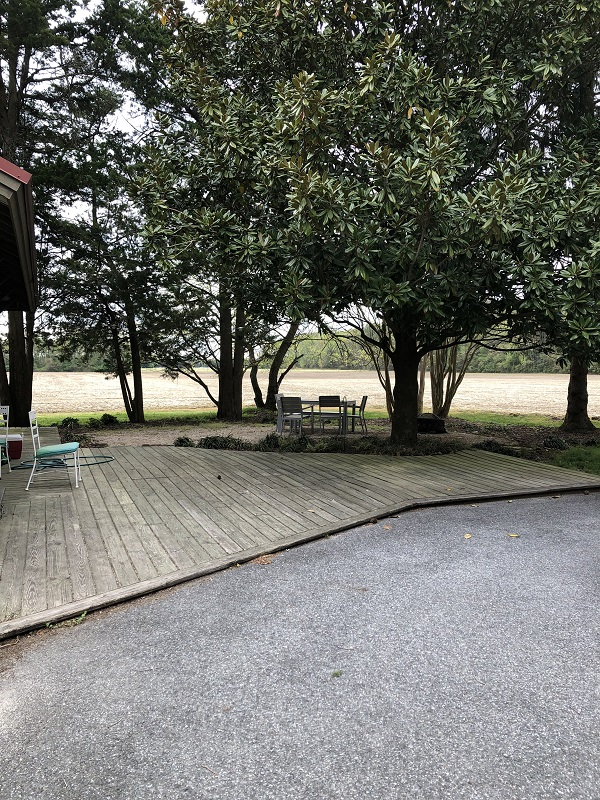 Patio makeover before