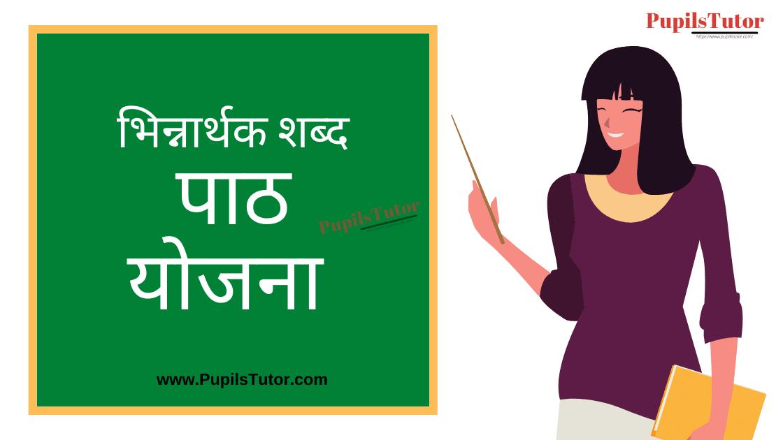 Bhinnarthak Shabd Lesson Plan in Hindi for B.Ed/DELED | भिन्नार्थक शब्द पाठ योजना हिंदी व्याकरण | Bhinnarthak Shabd Lesson Plan