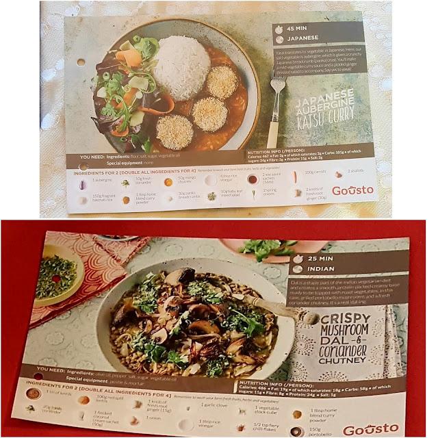 Gousto Recipe Cards