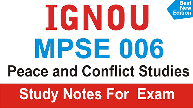 MPSE 006; Peace and Conflict Studies; MPS 006