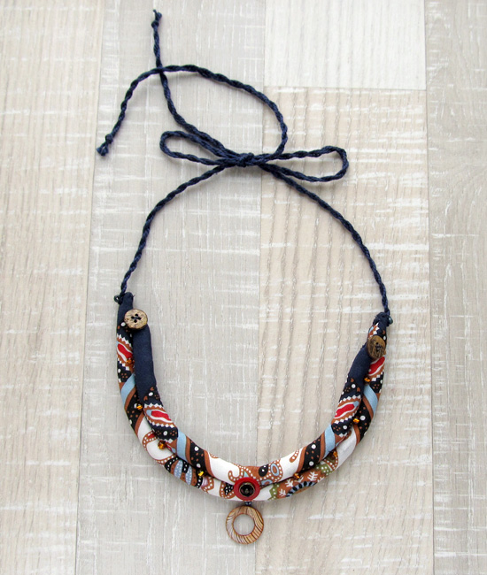 necklace, fabric