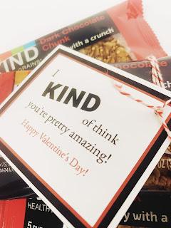 KIND Bar gift tag @michellepaigeblogs.com