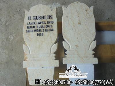 Harga Batu Nisan Kuburan Marmer, Patok Nisan Marmer, Contoh Patok Nisan Kuburan