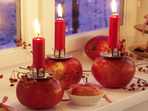 K'Mich Weddings - wedding ideas - apple centerpiece