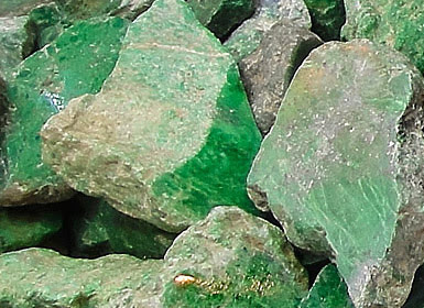 pictures of green jade rock