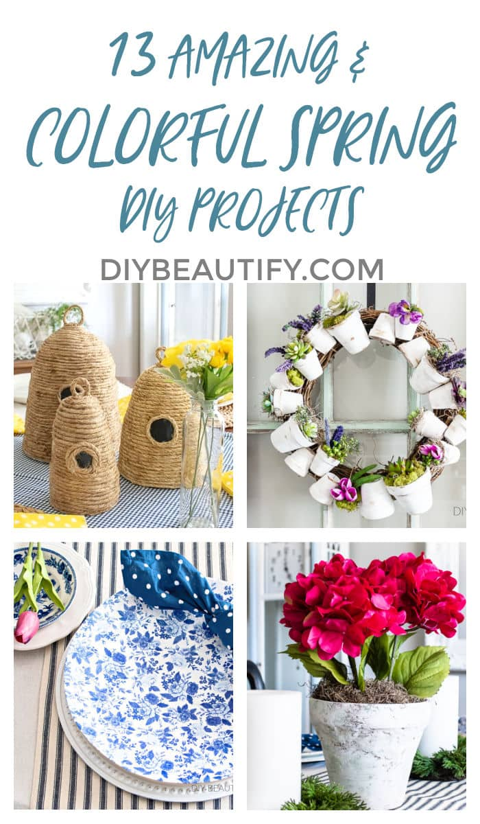 colorful and affordable Spring DIY and craft projects
