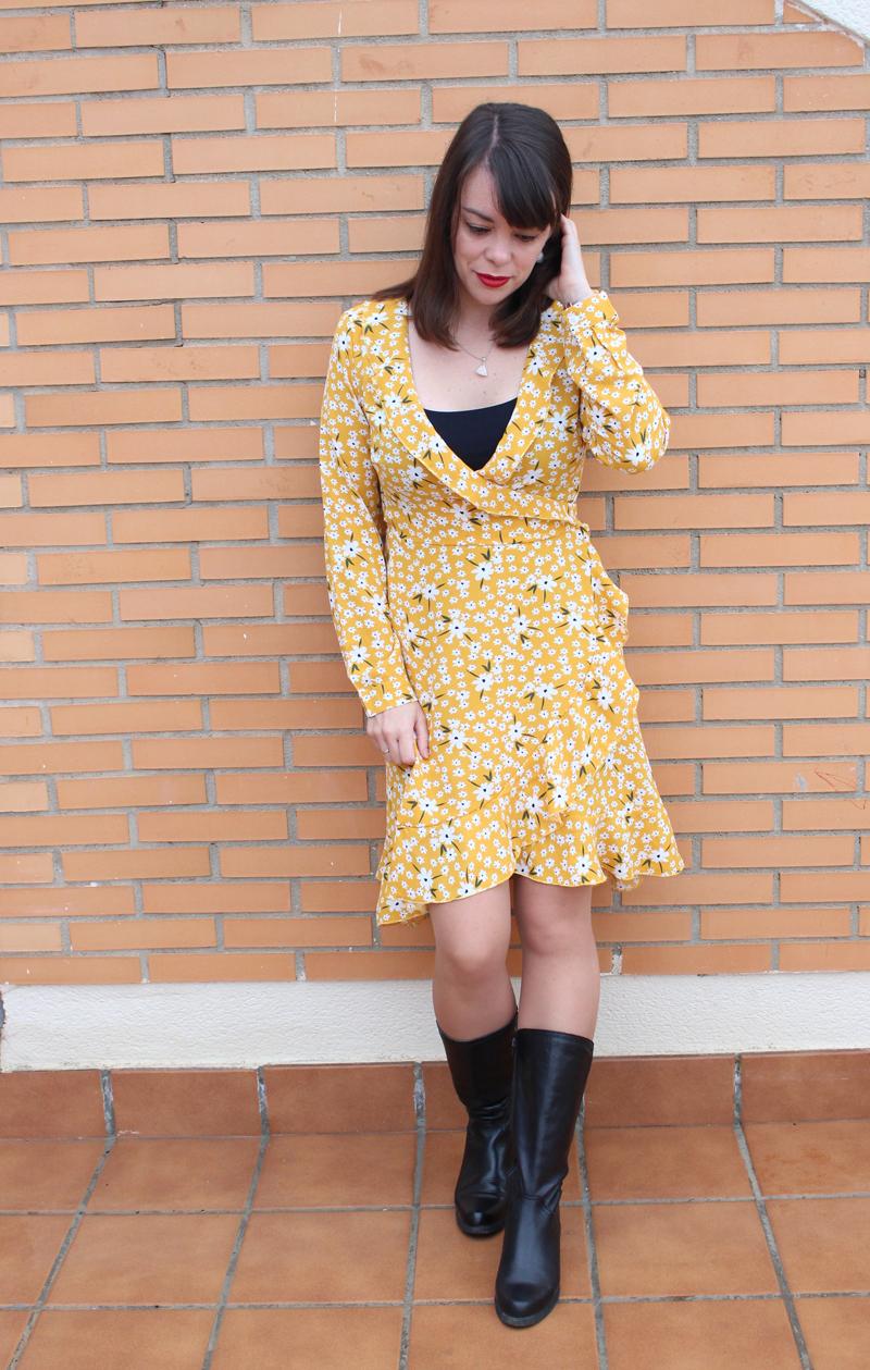Vestido romántico amarillo