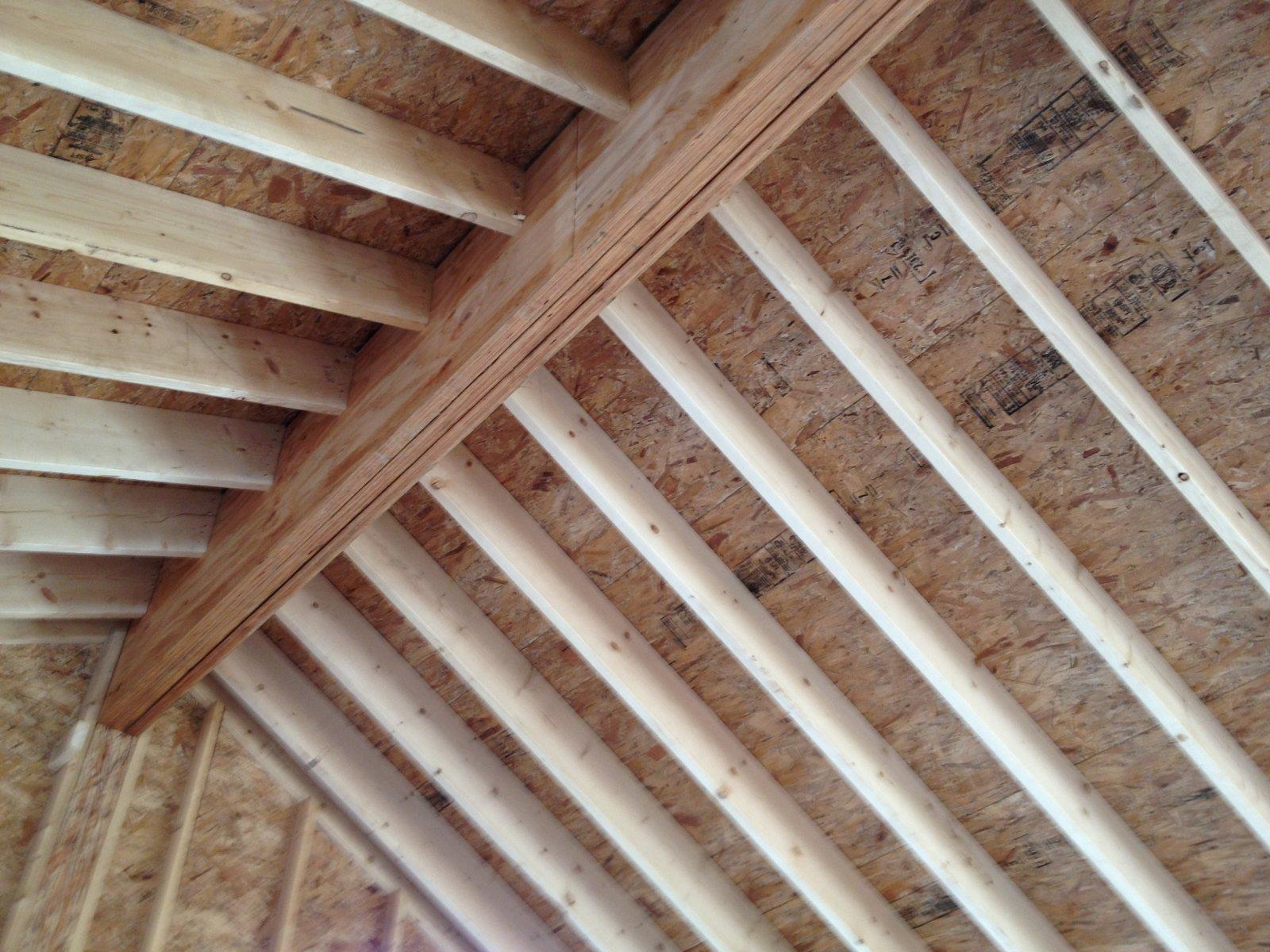 Pretty Good Lake House Roof Sheathing Starts
