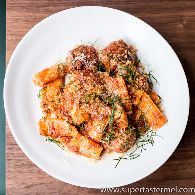 Rigatoni and Meatballs Mercato Hong Kong